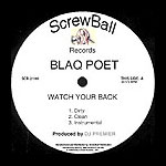 "Blaq Poet - Watch Your Back 12"" Single"