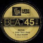 """Brenk Sinatra - Ole Woam / Don't Stop 7"""" Single"""